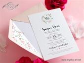 Pozivnica za vjenčanje - Romantic Flower Wreath