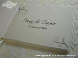 personalizacija za knjigu dojmova crno srebrna