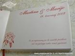 personalizacija za knjigu dojmova za vjenčanje u crvenoj boji