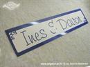 Auto tablica za vjenčanje TIP 8