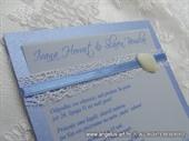 Pozivnica za vjenčanje Bijela školjka Fairy Tale