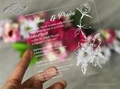 Pozivnica za vjenčanje Plexy pozivnica - srebrna