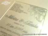 plexy srebrna pozivnica prozirna s tiskom