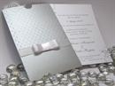 Pozivnica za vjenčanje - Silver Dot Charm