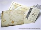 pozivnica avionska karta sa omotnicom