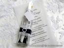 Pozivnica za vjenčanje - Poruka u boci Black&White