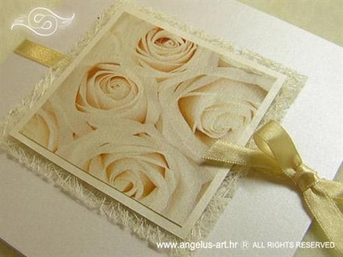 pozivnica s krem ružom