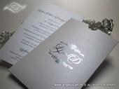Pozivnica za vjenčanje - Monogram Foil Charm