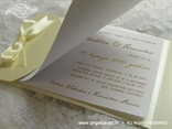pozivnica šampanj zlatna sa satenskom mašnom prikaz teksta