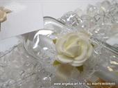 Pozivnica za vjenčanje Poruka u boci - Bijela ruža