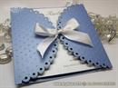 Pozivnica za vjenčanje - Light Blue Lace Diva
