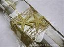 pozivnica za vjenčanje s dvije morske zvijezde smeđe bež
