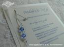 Pozivnica za vjenčanje Plave perle - Transparent