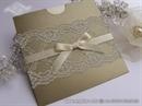 Pozivnica za vjenčanje - Gold Charm Lace