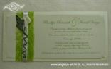 pozivnica za vjenčanje sa zelenim sisalom i kalom