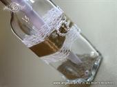 Pozivnica za vjenčanje Poruka u boci - Smeđe srce