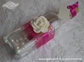 Pozivnica za vjenčanje Poruka u boci - Ciklama