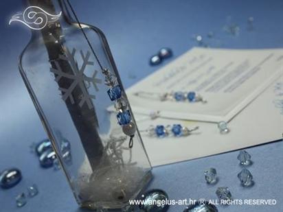 pozivnica za vjenčanje u boci zimska sa snijegom