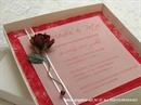 Pozivnica za vjenčanje Ruža i perla - Pozivnica u kutiji