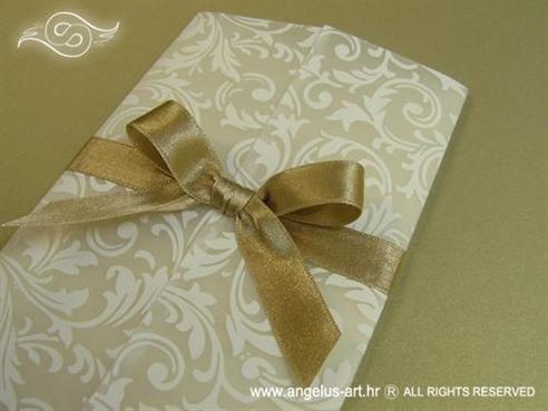 pozivnica za vjenčanje u zlatno bež bojama