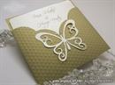 Pozivnica za vjenčanje - Golden Butterfly Charm