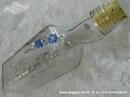 pozivnica za zimsko vjenčanje bijelo plava u boci