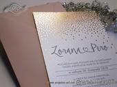 Pozivnice za vjenčanje - Foilprint Dots Line