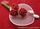 Kitica za rever za goste vjenčanja - Red Petal Roses