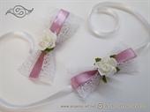 Kitica za rever za goste vjenčanja - Ruža u bijeloj mreži