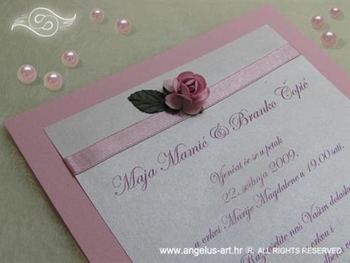 roza pozivnica s ružom
