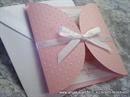 Pozivnica za krštenje i rođendan - Pink Dots