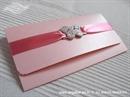 Pozivnica za vjenčanje - Pink Butterfly Letter