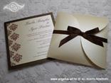 šampanj smeđa natural pozivnica za vjenčanje