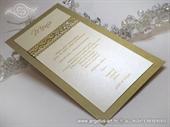 Menu za vjenčanje - Uhvaćeni u mreži - gold