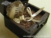 Jastučić za prstenje Škrinjica natural