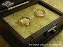 Jastučić za prstenje Škrinjica krem ruže