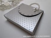 Ekskluzivna čestitka - Torbica želja - srebrna