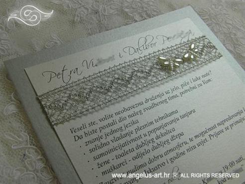 srebrna pozivnica s mrežom