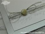 srebrna pozivnica za vjenčanje morska detalj