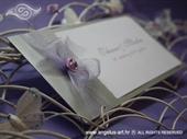 Pozivnica za vjenčanje Vintage Silver Rose