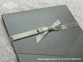 Pozivnica za vjenčanje Srebrna mašna Classic