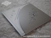 Pozivnica za vjenčanje Diamond Silver White