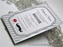 Pozivnica za vjenčanje - Mustache Silver Line