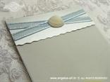 srebrno plava morska zahvalnica za vjenčanje sa školjkom