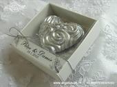 Konfet za vjenčanje Magnet srebrno srce