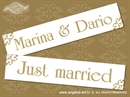 Auto tablica za vjenčanje TIP 10