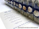 tamno plava pozivnica za vjencanje poruka u boci