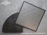 tamno srebrna pozivnica dijamant tisak teksta