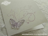 zahvalnica s prozirnim leptirom i krivuljama