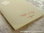 zahvalnica za vjenčanje s crvenim tiskom teksta
